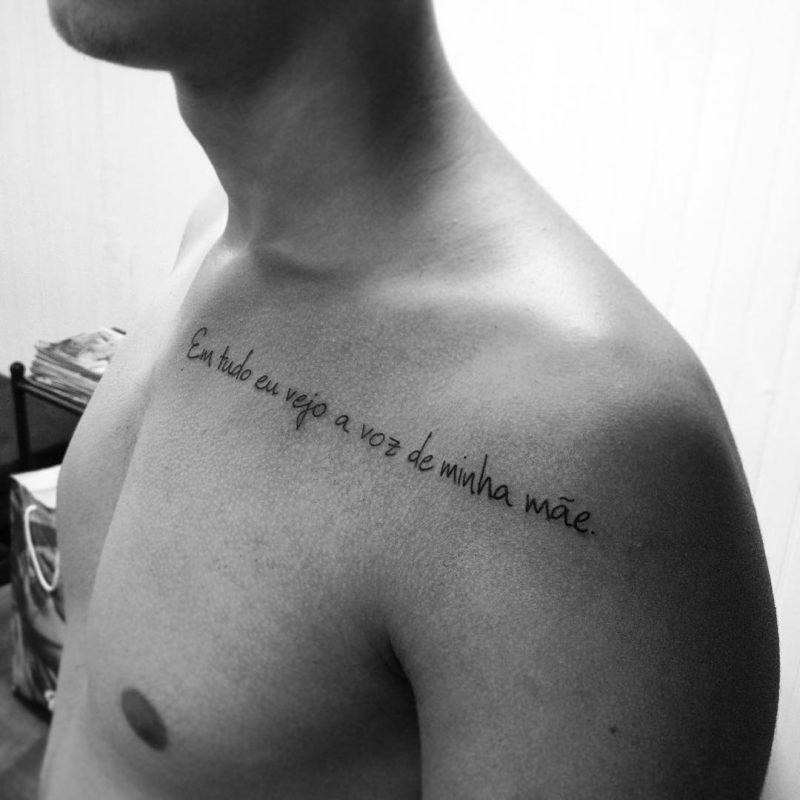 Tattoo De Frases No Ombro Mmod