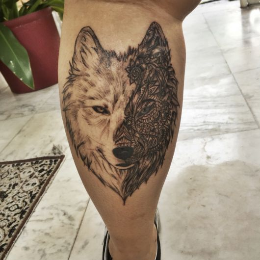 Tatuagem De Lobo Significado No Ombro Nas Costas Mãos