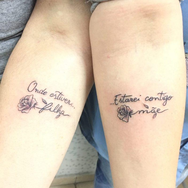 Tatuagem Mae E Filha Frase Tattoo Tatuagem