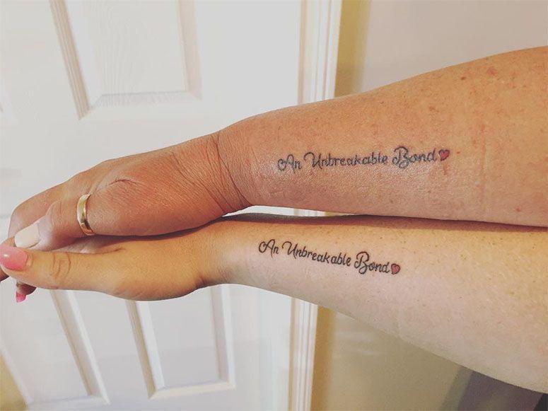 Tatuagem Mãe E Filha Frases Iguais Símbolosaqui