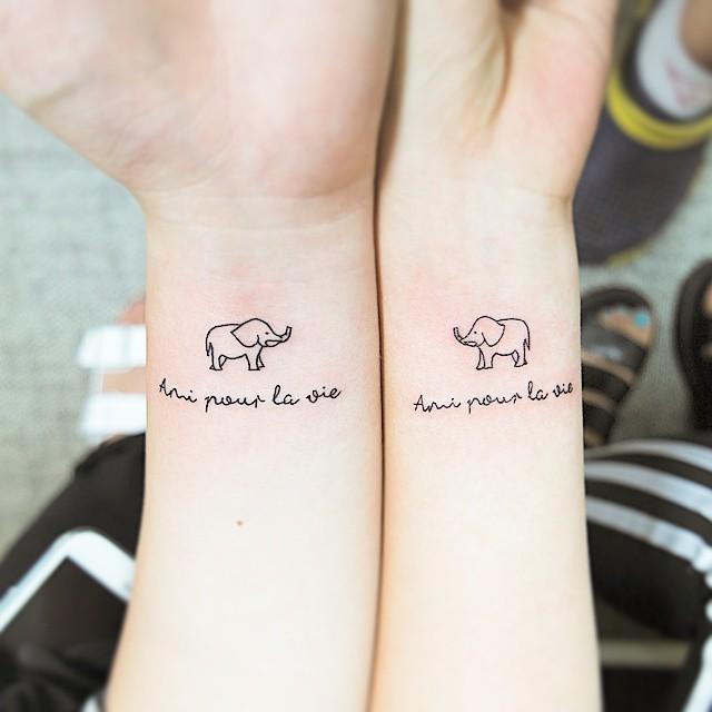Tatuagens Pequenas Masculinas Femininas Casal Amigas
